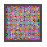 """Moho y modelo rústico púrpura de las tejas de la """" caja de joyas de calidad"""