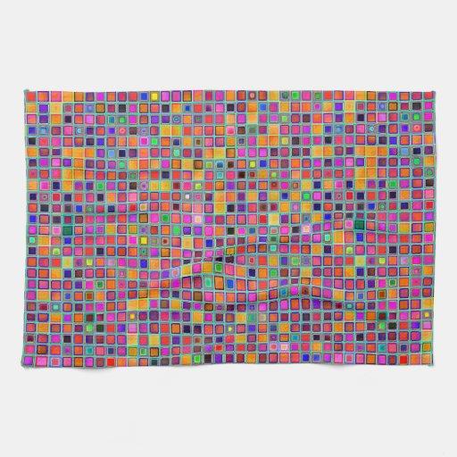 """Moho y modelo rústico púrpura de las tejas de la """" toalla de mano"""