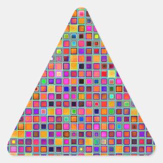 Moho y modelo rústico púrpura de las tejas de la pegatina trianguladas personalizadas