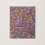 """Moho y modelo rústico púrpura de las tejas de la """" puzzles con fotos"""