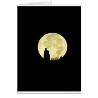 Mohonk Moonset Greeting Cards