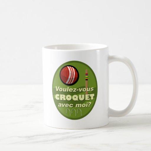 ¿Moi del avec del croquet de Voulez-vous? Tazas De Café