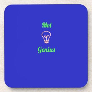 'Moi genius' Beverage Coaster