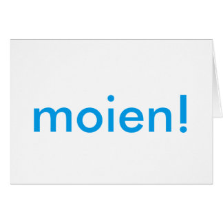 Moien! Card