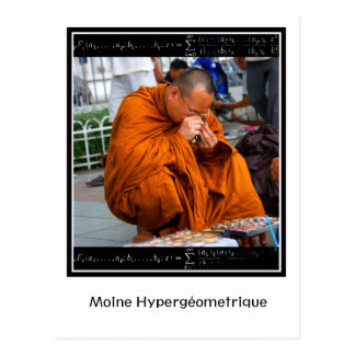 Moine Hypergéométrique Postcard