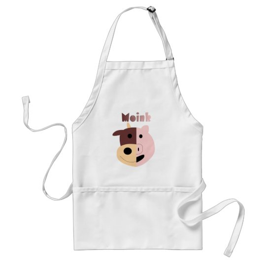 Moink: Cartoon cow and pig apron