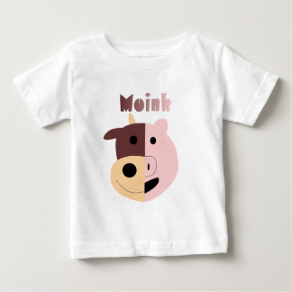 Moink: Cartoon cow and pig Baby T-Shirt