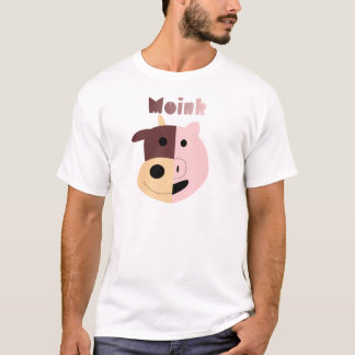 Moink: Cartoon cow and pig men's t-shirt