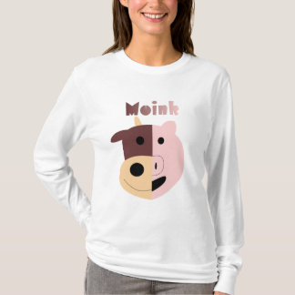 Moink: Cartoon cow and pig womens long sleeve T-Shirt