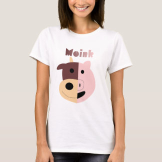 Moink: Cartoon cow and pig womens t-shirt