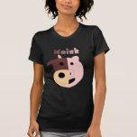 Moink: Cartoon cow and pig womens t-shirt (dark)