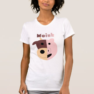 Moink: Cartoon cow and pig womens tank