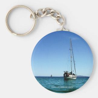 Moira at anchor,  Agua Verde, BCS, Mexico Keychain
