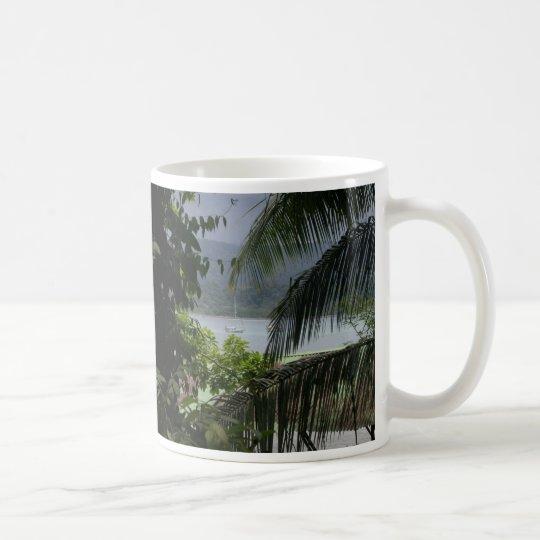 Moira at anchor, Bahia Drake, Coast Rica Coffee Mug