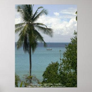 Moira at anchor, Bahia Drake, Costa Rica Poster