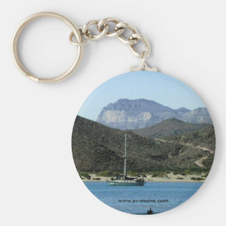 Moira at anchor, Evaristo, BCS, Mexico Keychain