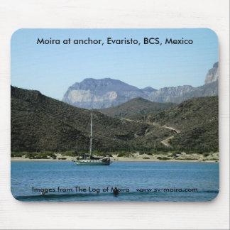 Moira at anchor, Evaristo, BCS, Mexico Mouse Pad