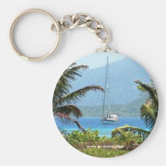 Moira at anchor, Josh's Key, Guanaja, Honduras Key Chain