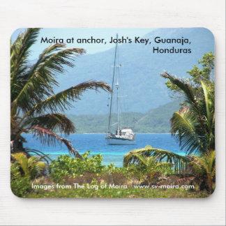 Moira at anchor, Josh's Key, Guanaja, Honduras Mouse Pad
