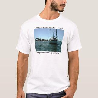 Moira at anchor off Altata, Mexico. T-Shirt