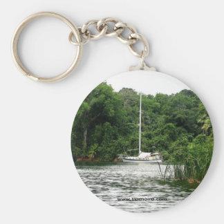 Moira at anchor, Rio Chagres, Panama Keychains