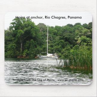 Moira at anchor, Rio Chagres, Panama Mouse Pad