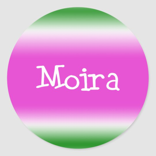 Moira Classic Round Sticker