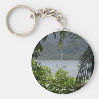 Moira en el ancla, Bahía Drake, Costa Rica Llavero Redondo Tipo Pin