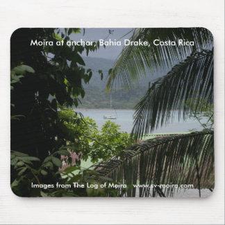 Moira en el ancla, Bahía Drake, Costa Rica Tapetes De Ratón