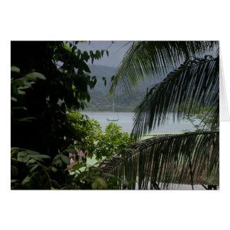 Moira en el ancla, Bahía Drake, Costa Rica Tarjeta De Felicitación