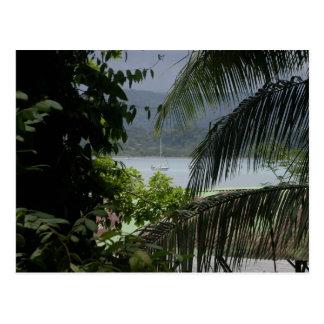 Moira en el ancla, Bahía Drake, Costa Rica Tarjetas Postales