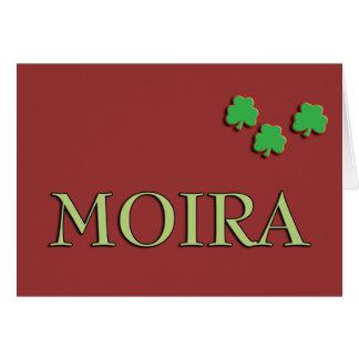 Moira Irish Girl Card
