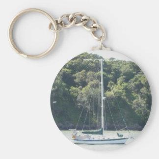 Moira on mooring, Angel Island, San Francisco Keychain