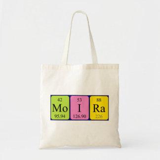 Moira periodic table name tote bag