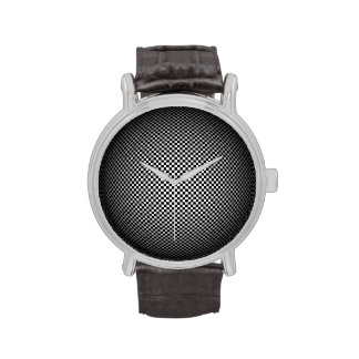 Moire Checkered Sphere Classic Watch