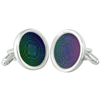 Moire Checkers Cufflinks