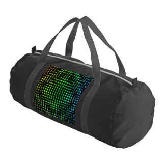 Moire Checkers Duffle Bag