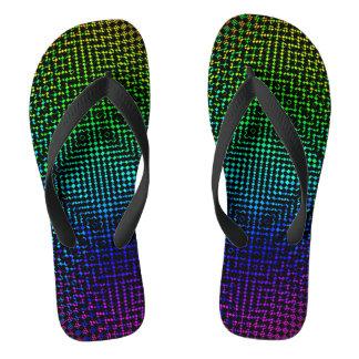 Moire Checkers Flip Flops