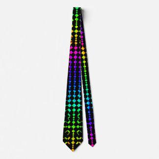 Moire Checkers Neck Tie