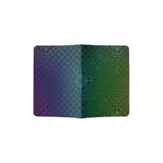 Moire Checkers Passport Holder