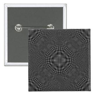 Moire Checkers Pinback Button