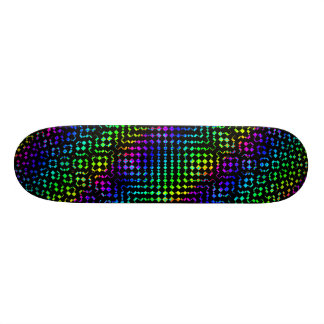 Moire Checkers Skateboard Deck