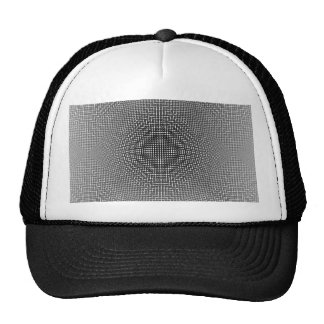 Moire Checkers Trucker Hat