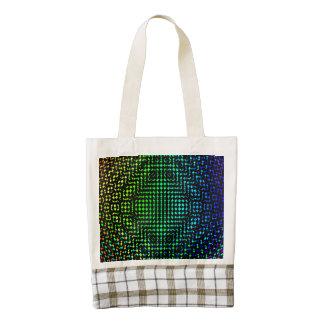 Moire Checkers Zazzle HEART Tote Bag