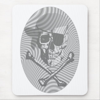 Moire Pirate Skull Mouse Pad