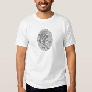 Moire Pirate Skull T Shirt