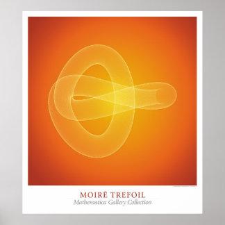 Moire Trefoil Posters
