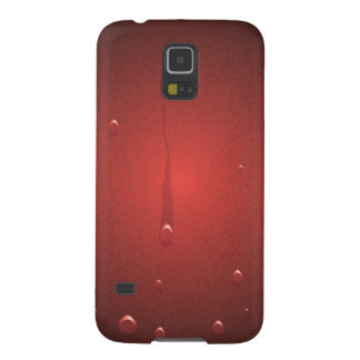 moist and glossy red galaxy s5 case