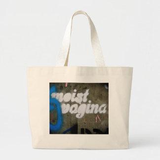Moist Vagina Large Tote Bag