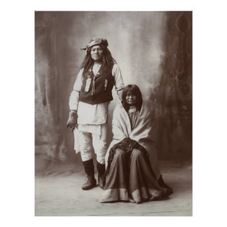 Mojave Apache Couple, 1890s Poster